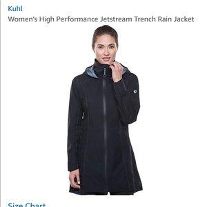 Kuhl black raincoat or wind jacket